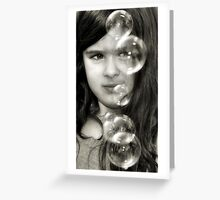 L's Bubbles Greeting Card