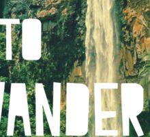 Born To Wander Sticker