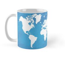 Blue World Map Mug