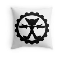 Ratchet and Clank's shield logo Throw Pillow
