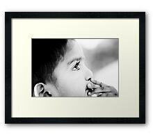 ~child~ Framed Print