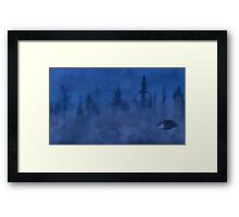 UFO In the Mist Framed Print