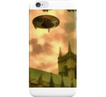 UFO Over Cathedral iPhone Case/Skin