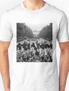 BW UK England the Guards returning along the Mall 1970s T-Shirt