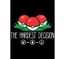 The Hardest Decision Photographic Print