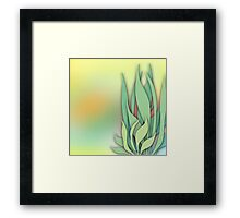 Abstract Plant in the Summer Framed Print