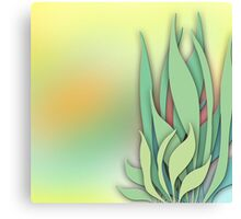 Abstract Plant in the Summer Canvas Print