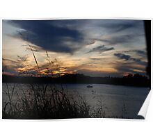 Sunset - Ohio River in Evensville Poster