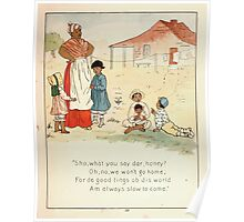 The Glad Year Round for Boys and Girls by Almira George Plympton and Kate Greenaway 1882 0055 Good Things of This World Poster