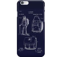Antique Backpack blueprint drawing  iPhone Case/Skin