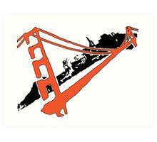 San Francisco Giants Stencil Team Colors Art Print
