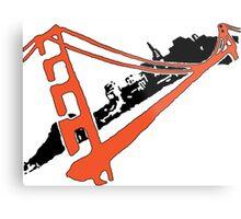 San Francisco Giants Stencil Team Colors Metal Print