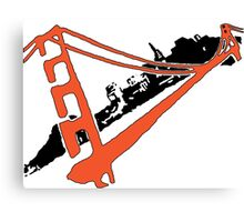 San Francisco Giants Stencil Team Colors Canvas Print