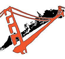 San Francisco Giants Stencil Team Colors Photographic Print