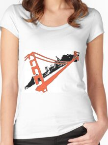 San Francisco Giants Stencil Team Colors Women's Fitted Scoop T-Shirt