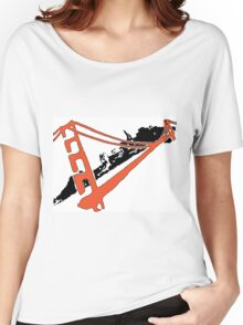 San Francisco Giants Stencil Team Colors Women's Relaxed Fit T-Shirt