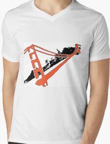 San Francisco Giants Stencil Team Colors Mens V-Neck T-Shirt