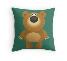 Friendly big bear Throw Pillow