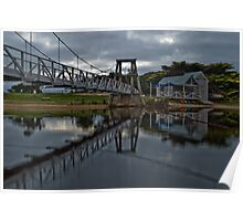 Swing Bridge Reflections Poster