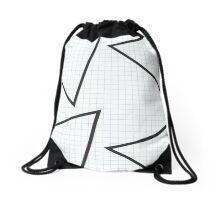 grid triangle Drawstring Bag