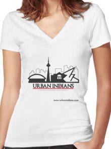 Urban Indians Toronto Logo Women's Fitted V-Neck T-Shirt