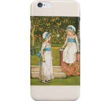 Rhymes for the Young Folk William and Hellen Allingham art Kate Greenaway 0063 The Bubble iPhone Case/Skin