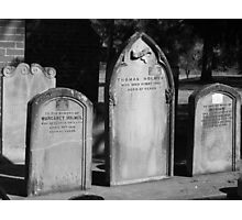 Gravestones of The Past Photographic Print