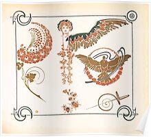 Maurice Verneuil Georges Auriol Alphonse Mucha Art Deco Nouveau Patterns Combinaisons Ornementalis 0047 Poster