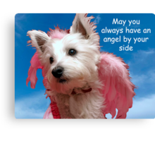 May an angel always be by your side Canvas Print