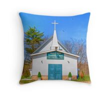 Little Country Chapel Throw Pillow