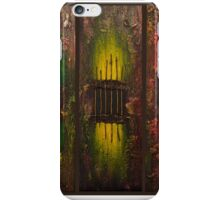Caged Brown Background iPhone Case/Skin