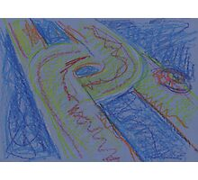 UFO HWY(SKETCH - PASTELS)(C2015) Photographic Print