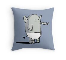 Baby Elephant in Diapers Throw Pillow