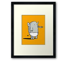 Baby Elephant in Diapers Framed Print