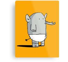 Baby Elephant in Diapers Metal Print
