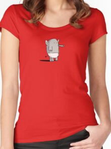 Baby Elephant in Diapers Women's Fitted Scoop T-Shirt