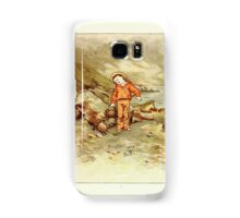 Old Proverbs with New Pictures Lizzie Laweson and Clara Mateaux 1881 0055 Bought Wit is Best Samsung Galaxy Case/Skin