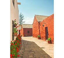 Street of Santa Catalina Monastery Photographic Print