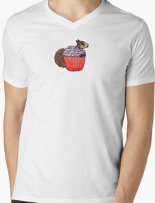 Squirrel in My Cupcake Mens V-Neck T-Shirt