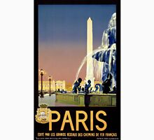 Paris Vintage Travel Poster Restored Unisex T-Shirt