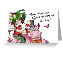 time for an entertainment duel Greeting Card