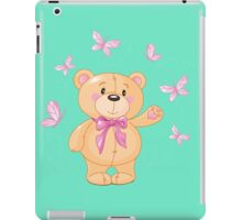 Teddy bear with butterflies iPad Case/Skin