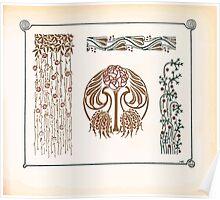 Maurice Verneuil Georges Auriol Alphonse Mucha Art Deco Nouveau Patterns Combinaisons Ornementalis 0045 Poster
