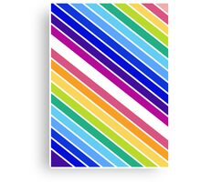 At the End of The Rainbow Stripes Canvas Print