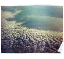 Clouds from plane Poster