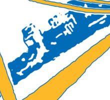 Golden State Warriors Stencil Team Colors Sticker