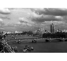 BW UK England London The River Thames 1970s Photographic Print