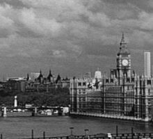 BW UK England London The River Thames 1970s Sticker