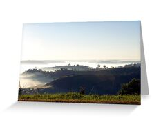 Landscape Mist over the Mowbray Valley Greeting Card
