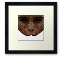 mirrored wrinkles  Framed Print